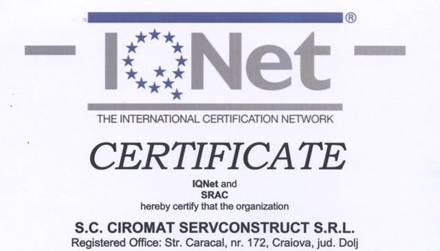 Sistemul international de certificare IQNET